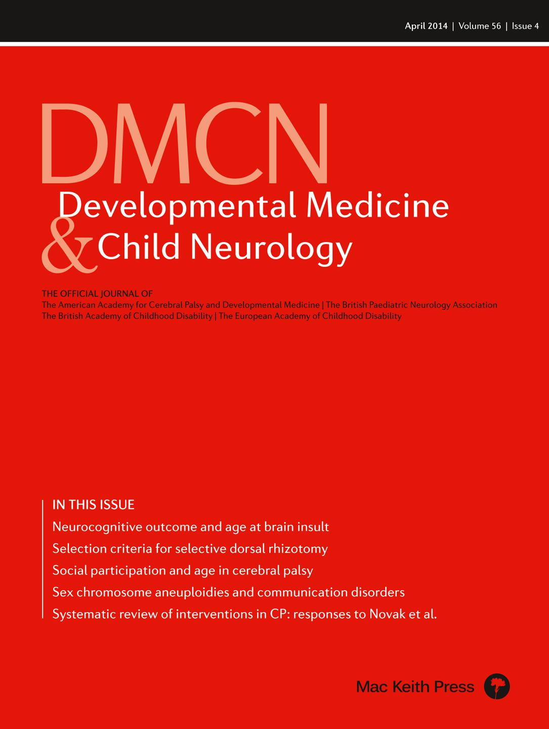 DMCN Discussion: 'Predicting neurocognitive and behavioural outcome after early brain insult'