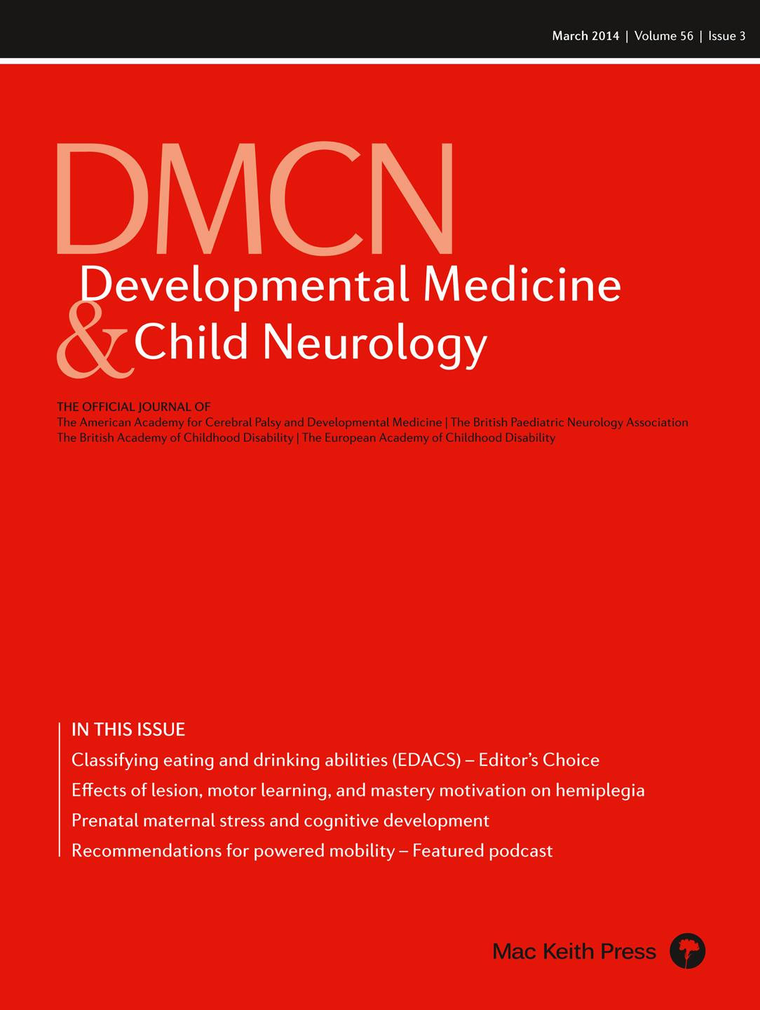 DMCN Discussion: 'Practice considerations for the introduction and use of power mobility for children'